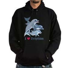 Dolphin Family and Text Hoody