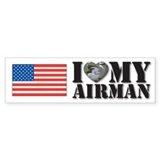 Love My Airman Bumper Bumper Sticker
