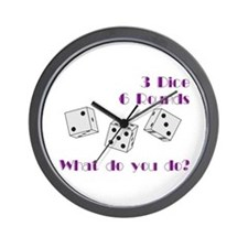 Three Dice... Wall Clock