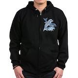 Dolphins Zip Hoodie (dark)