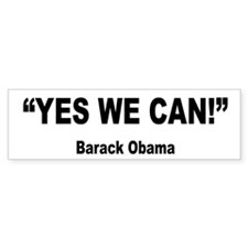 Obama Yes We Can Quote Bumper Bumper Sticker