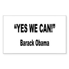 Obama Yes We Can Quote Rectangle Decal