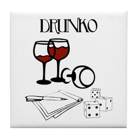 Drunko Tile Coaster