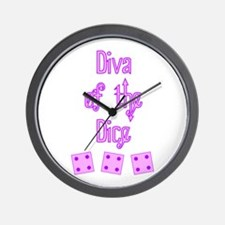 Diva of the Dice Wall Clock