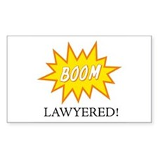 Boom Lawyered! Rectangle Decal