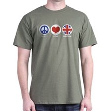 Peace Love Britain T-Shirt