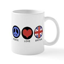 Peace Love Britain Mug