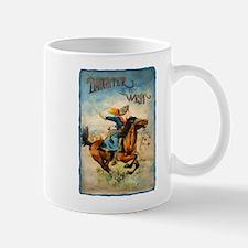 Vintage Cowgirl Roping Small Small Mug