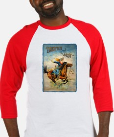 Vintage Cowgirl Roping Baseball Jersey