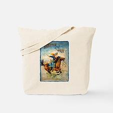 Vintage Cowgirl Roping Tote Bag