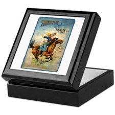 Vintage Cowgirl Roping Keepsake Box