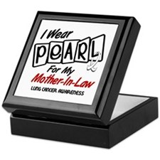 I Wear Pearl For My Mother-In-Law 8 Keepsake Box