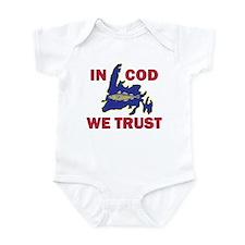 In Cod We Trust Infant Bodysuit