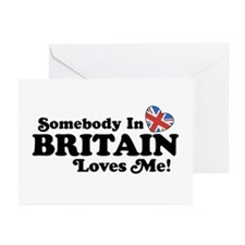 Somebody In Britain Loves Me Greeting Cards (Pk of