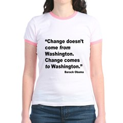 Obama Washington Change Quote (Front) T