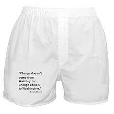 Obama Washington Change Quote Boxer Shorts