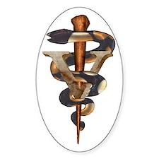 Veterinary Caduceus Oval Decal