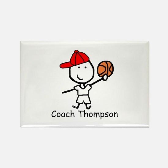 Basketball - Thompson Rectangle Magnet