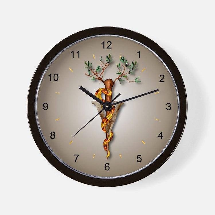 Veterinary Caduceus Wall Clock