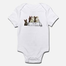 Old Age Scottish Terriers Infant Bodysuit