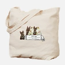Old Age Scottish Terriers Tote Bag
