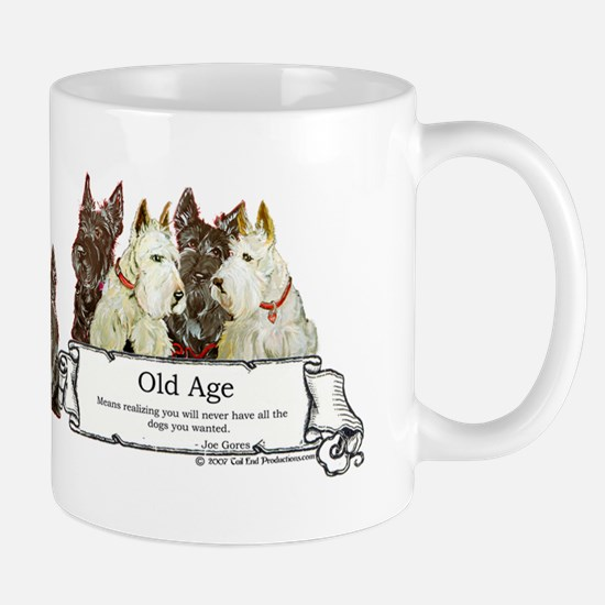 Old Age Scottish Terriers Mug