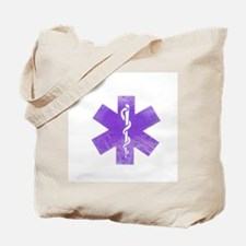 Purple star of life Tote Bag