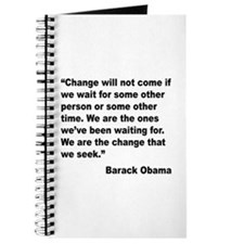 Obama We Are The Change Quote Journal