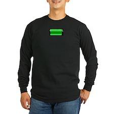 small-batterynearlyfull Long Sleeve T-Shirt
