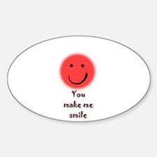 make me smile Oval Decal