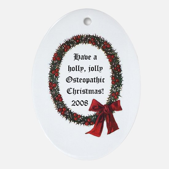 Osteopathic Wreath Oval Ornament