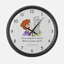 My Degree (Design 2) Large Wall Clock