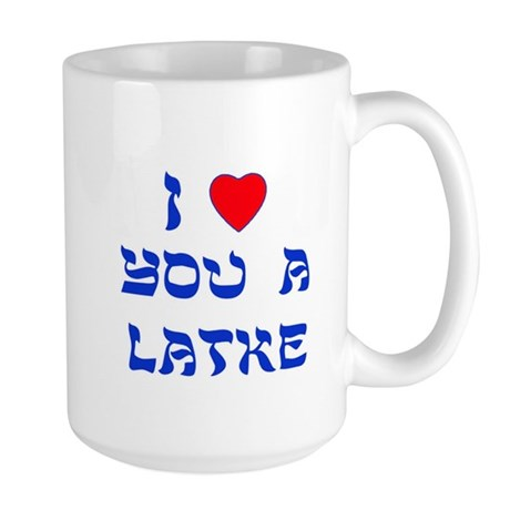 I Love You a Latke Large Mug