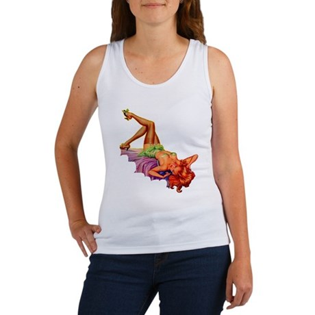 Plaything Pulp Pin Up Girl Women's Tank Top