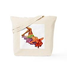 Plaything Pulp Pin Up Girl Tote Bag