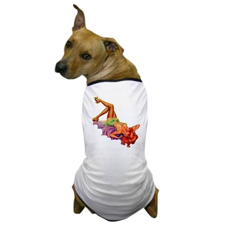 Plaything Pulp Pin Up Girl Dog T-Shirt
