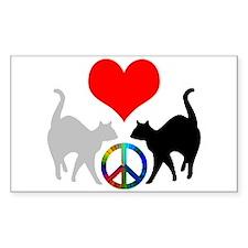 Love & peace Rectangle Decal