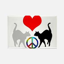Love & peace Rectangle Magnet