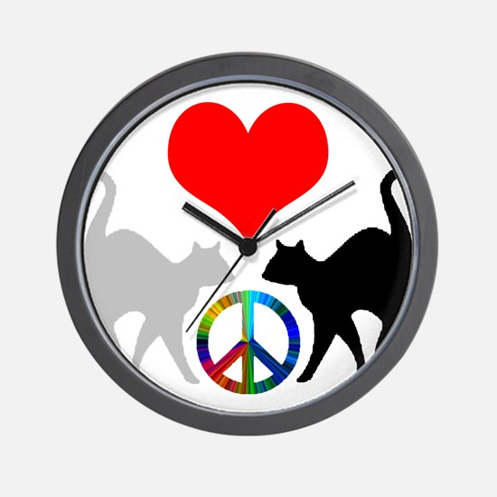 Love & peace Wall Clock