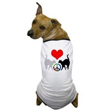 Love & peace Dog T-Shirt
