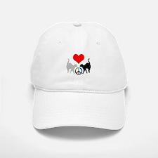 Love & peace Baseball Baseball Cap