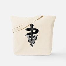 Veterinary Caduceus Tote Bag