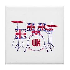 Cute Uk drums Tile Coaster