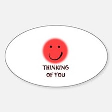 thinking of you Oval Decal