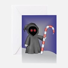 Christmas Grim Reaper Greeting Card