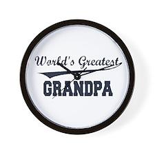 World's Greatest Grandpa Wall Clock