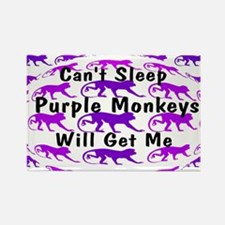 Can't Sleep Monkeys Will Get Rectangle Magnet (100