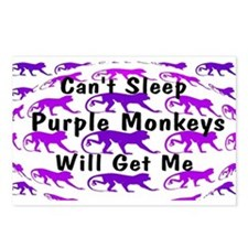 Can't Sleep Monkeys Will Get Postcards (Package of