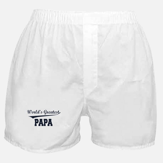 World's Greatest Papa Boxer Shorts