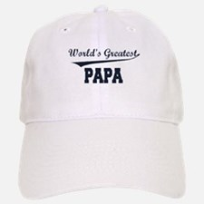 World's Greatest Papa Baseball Baseball Cap